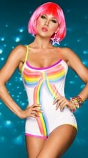 Rainbow Bow Front Romper