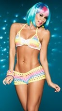 Raving Rainbow Bikini Set