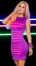 Slashed Neon Mini Dress