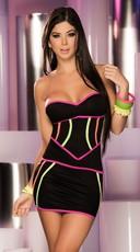 Neon Strap Corset Dress