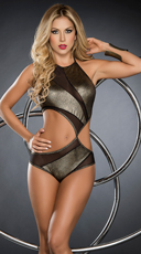 Metallic Golden Goddess Bodysuit