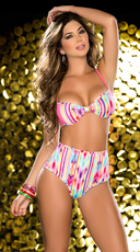 Rainbow Delight High Waist Panty and Bra