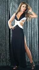 Black and White Criss Cross Gown