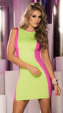 Reversible Neon Mini Dress