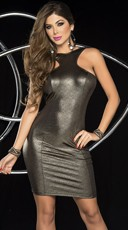 Gunmetal Goddess Dress