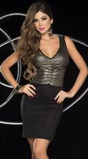 Glam Metallic Tank Dress
