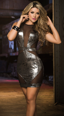 Gorgeous in Gunmetal Metallic Mini Dress