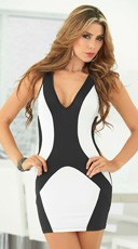 Two Tone Shaped Tank Dress