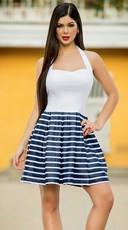 Classic Striped Pin-Up Sundress