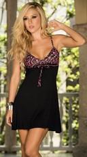 Leopard Print Bra Top Summer Dress