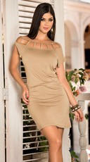 Summer Dress with Sexy Neckline Cutouts