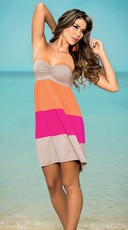 Color Block Bandeau Dress