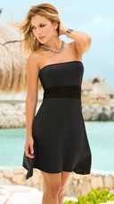 Flirty Waistband Strapless Dress