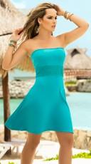 Flirty Waistband Strapless Dress