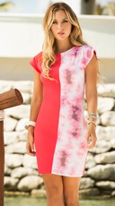 Split Tie-Dye Mini Dress