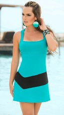 Seductive Silhouette Turquoise Dress