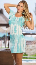 Casual Tie-Dye T-Shirt Dress