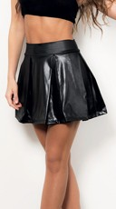 Pleated Skater Skirt