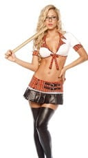 Blackboard Danger School Girl Lingerie Costume
