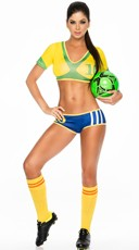Brazil Soccer Player Costume