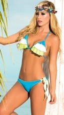 Frills and Ruffles String Bikini