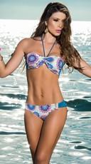 Blue Patterned Bikini