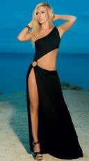 Slinky Asymmetrical Gown