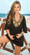 Golden Beauty Kimono Sun Dress