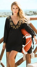 Long Sleeve Beach Mini Dress