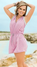 Carefree Orchid Hooded Dress