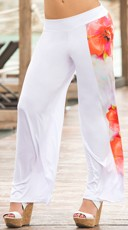 Summer White Floral Pants