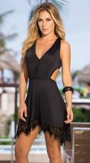 Eyelash Lace Strappy Dress