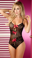Tie Up Lace Teddy