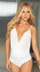 Low Cut Sleeveless Body Suit