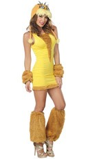 Yellow Costume Dress and Lorax Hood