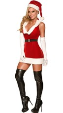 Sultry Mrs Kringle Christmas Dress