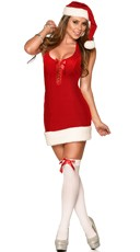 Lace Up Mrs Claus Dress