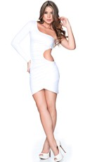 White Cut Out Club Dress