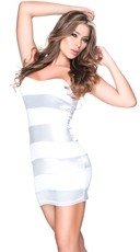 Stunning in Stripes Club Dress