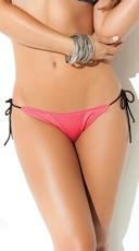 Exclusive Salmon Tie Side Bikini Bottom