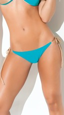 Exclusive Turquoise String Bikini Bottom