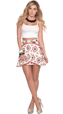 Tribal Beauty Crop Top and Printed Skirt