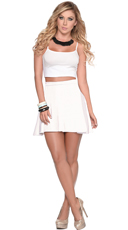 White It Out Flirty Top and Skirt Ensemble