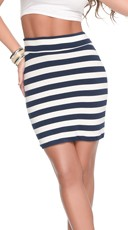 Stripe Me Down Nautical Tube Skirt