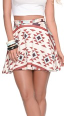 Flare It Right High Waist Mini Skirt