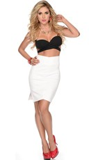 Two Tone Hottie Strappy Top and Skirt Set