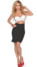 She's Black and White Strappy Top and Skirt Set
