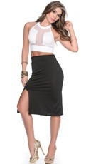 Double Trouble Mesh Top and Skirt