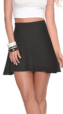 Give A Twirl High Waist Flared Mini Skirt