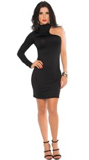 Make It Hot Long Sleeve Cut Out Cocktail Dress